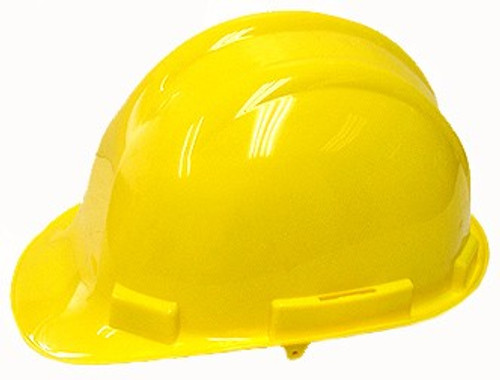 Yellow Plastic Hard Hat (Safety Helmet)