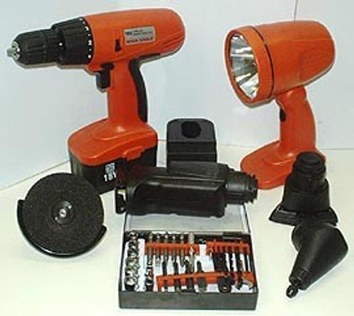 Six Tools in One 18 Volt Cordless Tool Kit