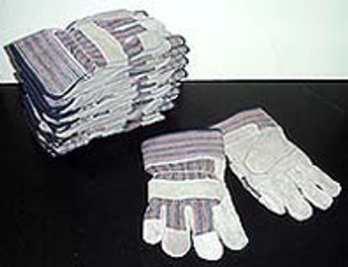 1 Dozen Pair Leather Palm Work Gloves