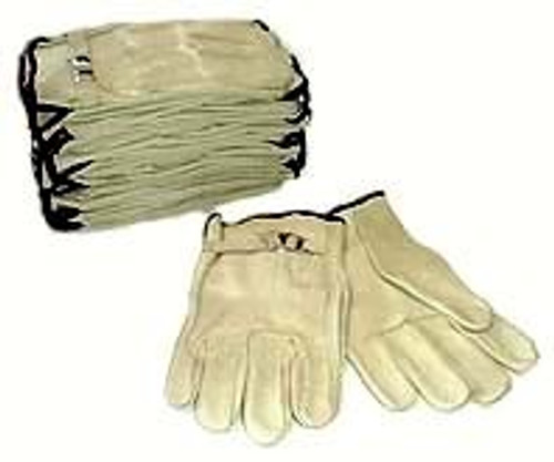 1 Dozen Pair Leather Driving / Work Gloves