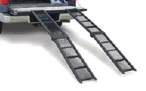 1 Pc 500 Lb Capacity Folding Steel Ramp