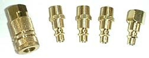 5 Pc Brass Quick Couplers Kit