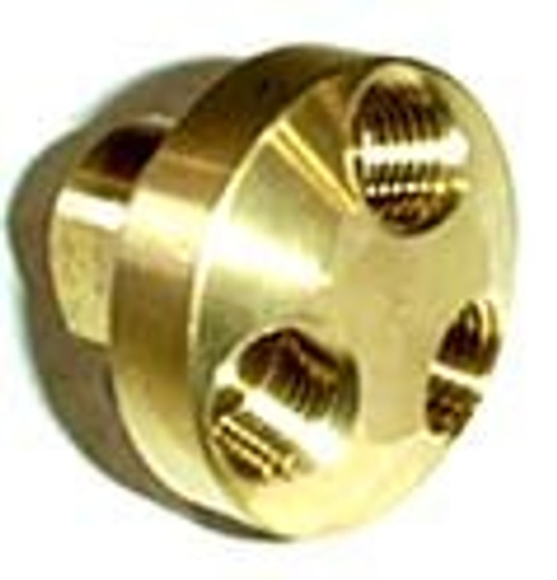 3 Way Air Brass Connector