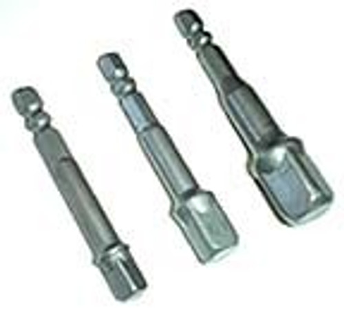 3 Pc Power Extension Bar Bit Set