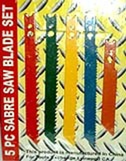 5 Pc Sabre Saw Blades