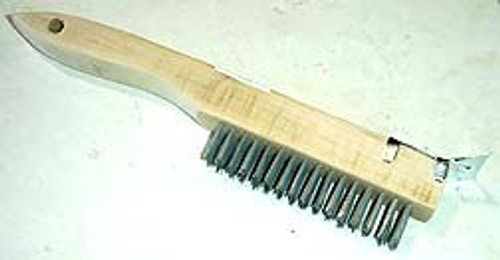10 inch Shoe Handle Wire Brush w\ Scraper