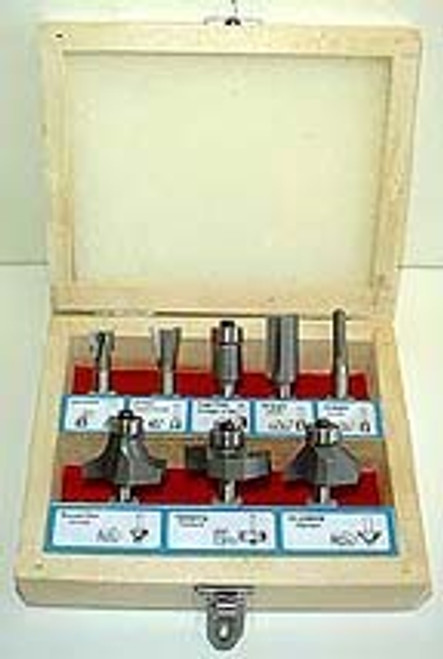 8 Pc Carbide Router Bit Set