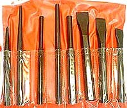 8 Pc Punch & Chisel Set