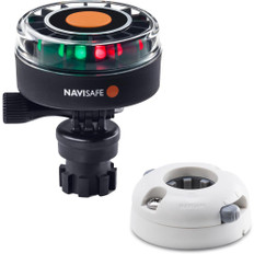 Navisafe Navilight 2NM Tricolor w/Navimount Base  Horizontal Mount - White