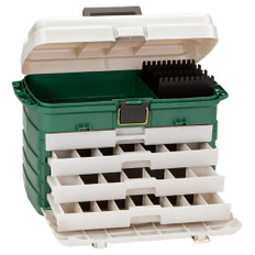 Plano 4-Drawer Tackle Box - Green Metallic/Silver