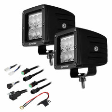 HEISE 6 LED Cube Light - Flood Beam - 3 - 2 Pack