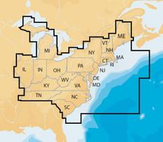 Navionics Nav Plus East Msd Regional Lakes And Coastal