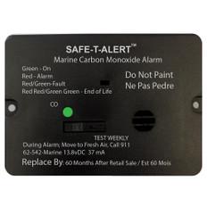 Safe-T-Alert 62 Series Carbon Monoxide Alarm w/Relay - 12V - 62-542-R-Marine - Flush Mount - Black