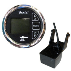 Faria 2 Dual Depth Sounder w/Air  Water Temp Transom Mount Transducer - Chesapeake SS Black