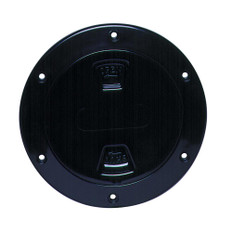 Beckson 4 Smooth Center Screw-Out Deck Plate - Black