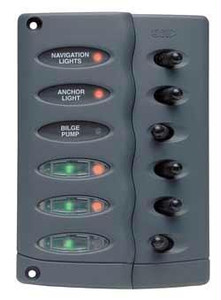 BEP CSP6-F 6 Way Switch Panel Water Proof With Fuse Holder