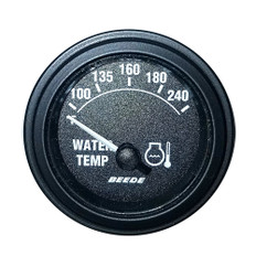 Faria 2 240 Temperature Gauge - Black w/Black Bezel - 24V