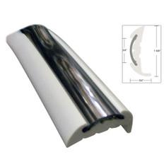 TACO Semi-Rigid Rub Rail Kit - White w/Flex Chrome Insert - 70'