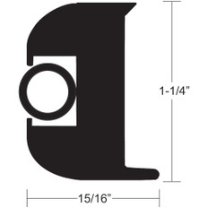 TACO Flex Vinyl Rub Rail Kit - Black w/Black Insert - 50' - 1-1/4