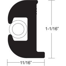 TACO Flex Vinyl Rub Rail Kit - Black w/White Insert - 50' - 1-1/16 x 11/16