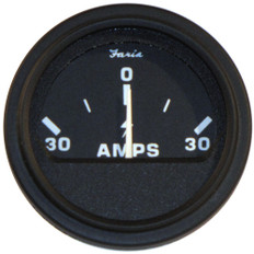 Faria 2 Heavy-Duty Ammeter (30-0-30) - Black