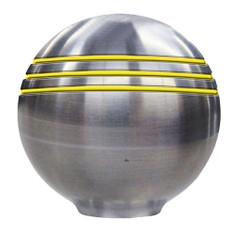 Ongaro Throttle Knob - 1- - Gold Grooves - 48243