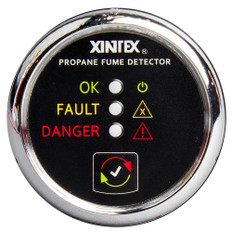 Xintex Propane Fume Detector w/Plastic Sensor - No Solenoid Valve - Chrome Bezel Displa