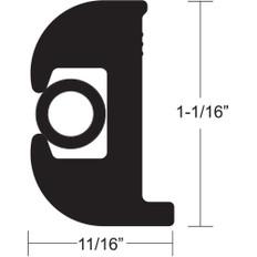 TACO Flex Vinyl Rub Rail Kit - Black w/Black Insert - 70' - 1-1/16 x 11/16
