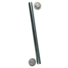 C.E. Smith Package Roller Shaft 1/2 x 12-3/4 w/Cap Nuts - Zinc