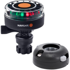 Navisafe Navilight 2NM Tricolor w/Navimount Base  Horizontal Mount - Black