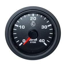 Faria 2 Tachometer Variable Frequency 4000 RPM Gauge - Black - Bulk Packaging