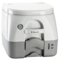Dometic - SeaLand 974MSD Portable Toilet 2.6 Gallon - Grey w/Brackets