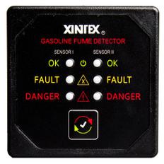 Xintex Gasoline Fume Detector w/2 Plastic Sensors - Black Bezel Display