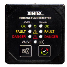 Xintex Propane Fume Detector w/2 Plastic Sensors - No Solenoid Valve - Square Black Bezel Display