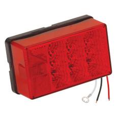 Wesbar 4 x 6 Waterproof LED 8-Function, Left/Roadside w/3 Wire 90 deg Pigtail Trailer Light