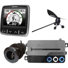 Raymarine i70s System Pack w/Color Instrument  Wind, DST Transducers, iTC-5, 3M Backbone, T-Piece, Power  2 Backbone Terminators