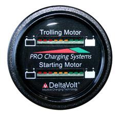 Dual Pro Battery Fuel Gauge For 1 - 24v, 1 -12v  Systems