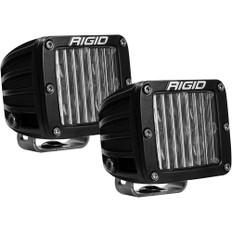 RIGID Industries D-Series SAE Fog Light Black - Pair