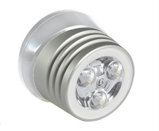 Lumitec Zephyr Deck Light Brushed/White Housing White