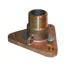 "GROCO 3/4"" Bronze NPS to NPT Flange Adapter"