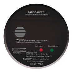 Safe-T-Alert SA-339 Black RV Battery Powered CO2 Detector