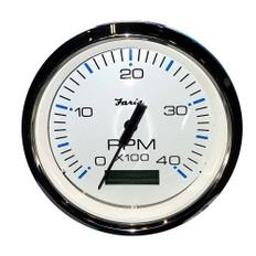 "Faria 4"" Tachometer w/Hourmeter (4000 RPM) (Diesel) Mech. Takeoff & Var. Ratio Alt"