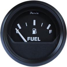 "Faria Euro Black 2"" Fuel Level Gauge (E-1/2-F) *Bulk Case of 24*"