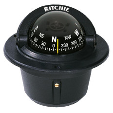 Ritchie F-50 Explorer Compass - Flush Mount - Black