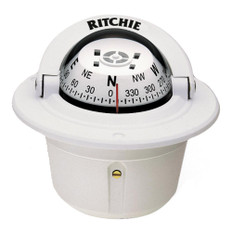 Ritchie F-50W Explorer Compass - Flush Mount - White