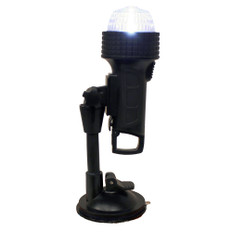 """Aqua Signal Series 27 Portable All-Round Light w/24"""" Pole C-Clamp, U-Bracket, Suction Cup & Inflatable Adapter"""