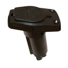 Aqua Signal Series 20 Polycarbonate Deck Mount Plug-In Pole Light Base - Black