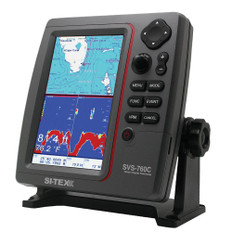 SI-TEX SVS-760C Digital Chartplotter w/Navionics+ Flexible Coverage