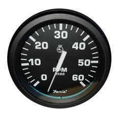 """Faria Heavy-Duty Black 4"""" Tachometer (6000 RPM) (Gas) (Ignition Signal 4, 6, 8 cyl)"""