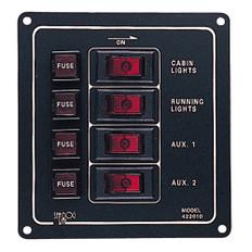 Sea-Dog Aluminum Switch Panel - Vertical - 4 Switch